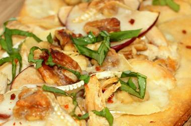 Apple, Brie, Walnut & Rotisserie Chicken Flatbread