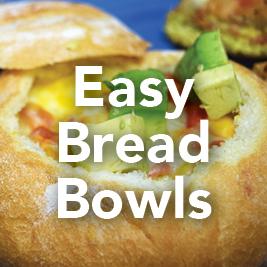 Easy Breakfast Bread Bowls