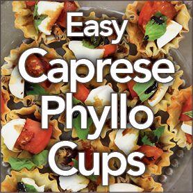 Easy Caprese Phyllo Cups