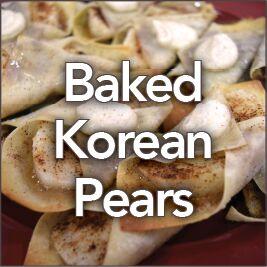 Baked Korean Pears