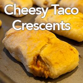 Cheesy Taco Crescents