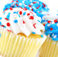 Picture of Two-Bite Give & Go Patriotic Mini Cupcakes